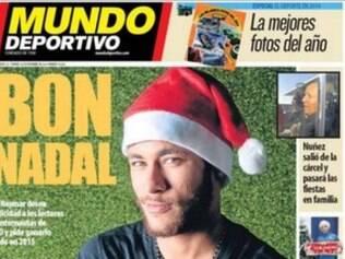 Neymar foi capa do jornal espanhol