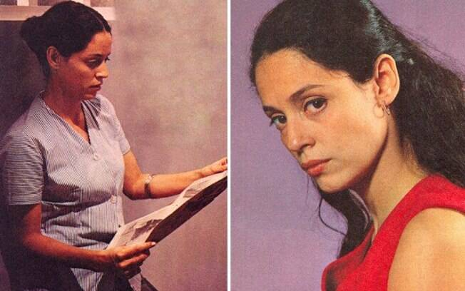 Júlia Matos (Sônia Braga) na prisão, e logo após ser libertada: heroína fragilizada