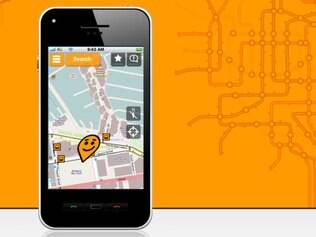 Aplicativo apresenta rotas para meios de transporte coletivos.