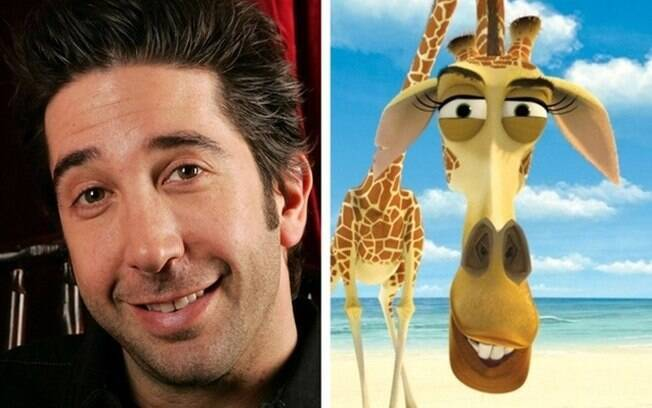 Personagens: David Schwimmer – Melman (Madagascar)