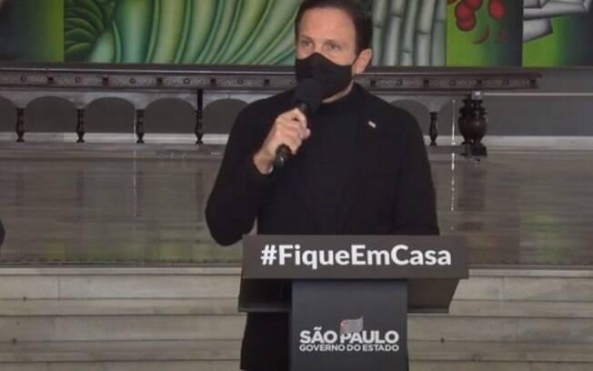 Em coletiva, governador anunciou novas medidas e detalhes do Plano São Paulo