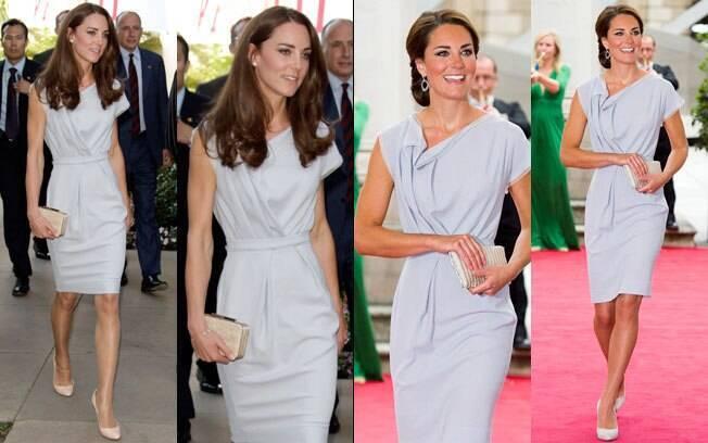 Kate Middleton em julho de 2011 e ontem em Londres: mesmo look
