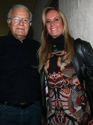 Helô Pinheiro e o marido na pré-estreia de 'Meu Deus', em São Paulo