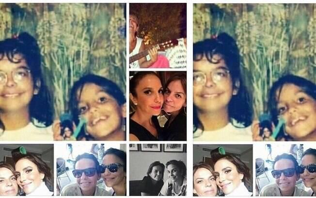 Ivete Sangalo com a irmã, Cynthia Sangalo