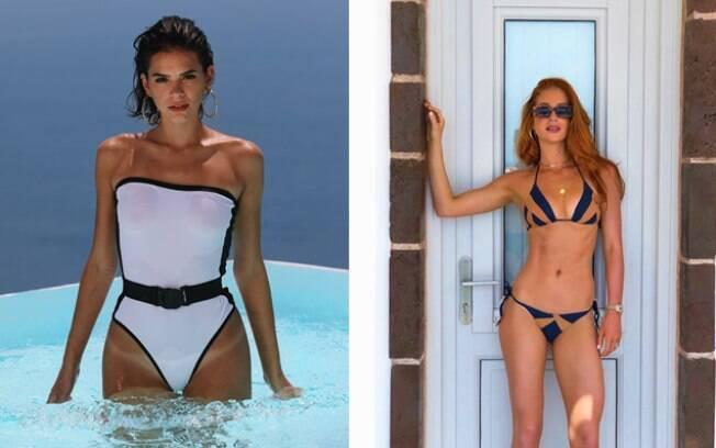 Bruna Marquenize e Marina Ruy Barbosa em férias na Grécia