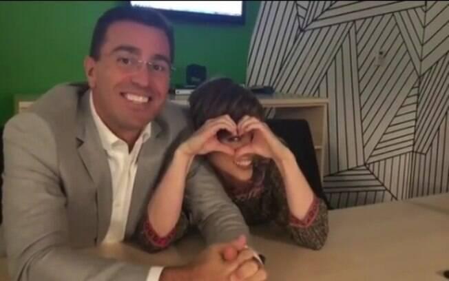 Em vídeo, Rodrigo Bocardi e Gloria Vanique negam desentendimento