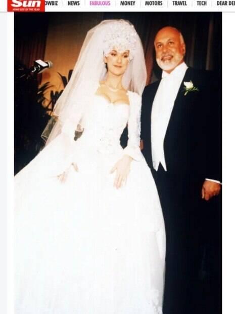 Celine Dion em seu casamento