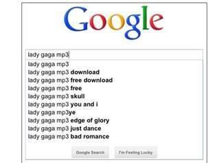 Recurso de autocompletar sugere buscas de download ilegal