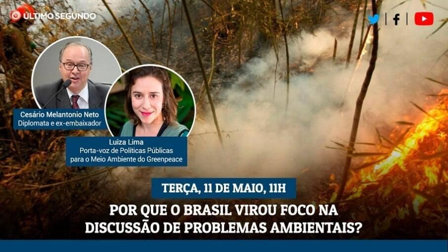 Transmissão vai discutir os problemas ambientais enfrentados pelo Brasil