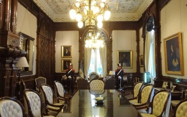 Gabinete da presidente argentina, Cristina Kirchner, pode ser visitado na Casa Rosada