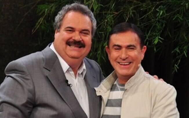 Gilberto Barros com o amigo Amaury Jr. Além de companheiros de emissora (RedeTV!) eles são vizinhos, em Orlando, nos Estados Unidos