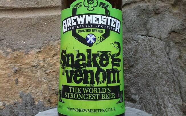 Cerveja Snake Venom tem teor alcoólico de 67,5%