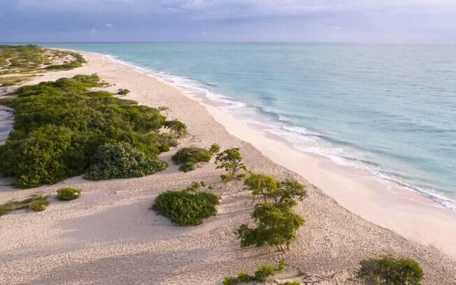 A praia de Costa Mujeres ainda não foi descoberta pelo público geral