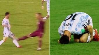 Entrada criminosa afetou joelho de Messi