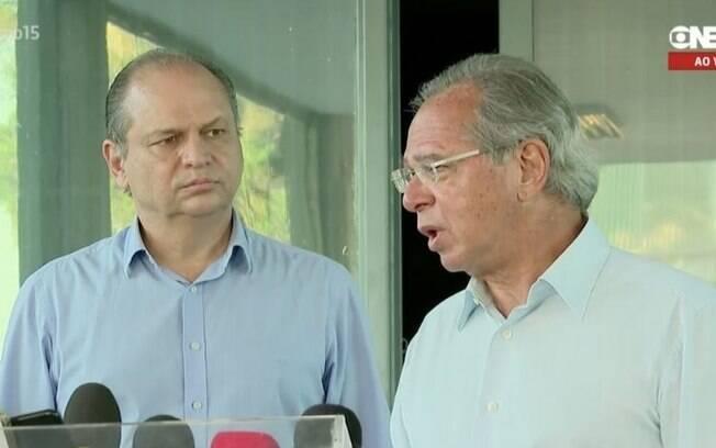 Ricardo Barros (PP-PR) e Paulo Guedes: plano de financiamento do Renda Cidadã foi mal visto por economistas