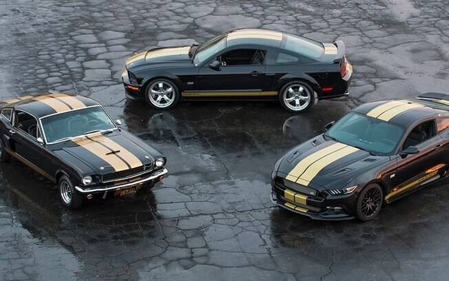 Mustang Shelby GT350-H 1999, GT-H 2006 e GT-H 2016