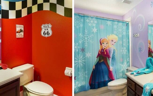 Para as crianças, tanto um quanto o outro banheiro de luxo prometem encantá-los