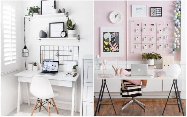 Na hora de bolar a decoração para um espaço de trabalho, é importante combinar funcionalidade e personalidade