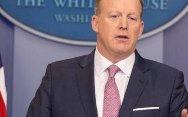 Sean Spicer era a pessoa encarregada no planejamento de estratégia de comunicação do governo de Donald Trump