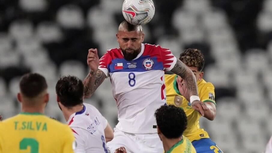 Brasil superou o Chile na Copa América