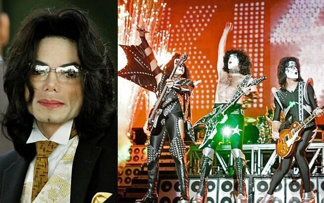 Michael Jackson e banda Kiss