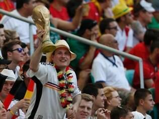 Esportes - Partida entre Alemanha e Portugal ,  no estadio Arena Fonte Nova valida pelo Grupo G da Copa do Mundo , em Salvador BA.  Foto Alex de Jesus/O Tempo 16/06/2014