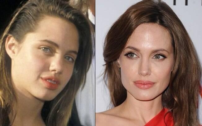 Angelina Jolie antes e depois da fama