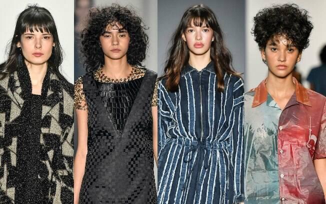 Nos desfiles da São Paulo Fashion Week, a franja apareceu em diferentes texturas, acabando com o mito