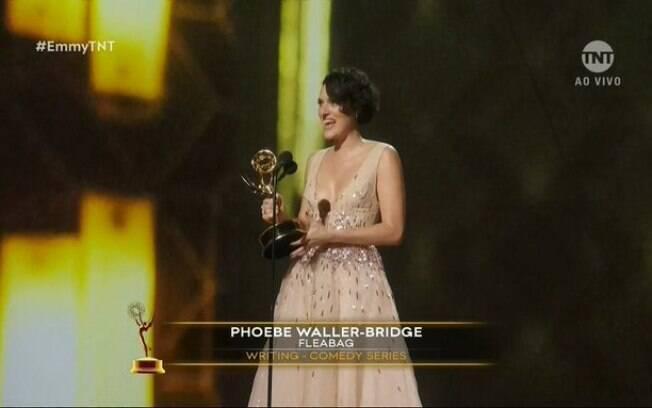 Phoebe Waller-Bridge, a maior vencedora individual da noite viu sua
