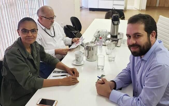 Marina Silva (Rede) e Guilherme Boulos (PSOL) se reuniram para conversar sobre momento político e por 'unidade pela democracia'