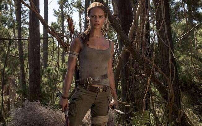 Alicia Vikander vive a nova 'Tomb Raider' nos cinemas e precisou de muito treino e dedicação para desenhar o corpo da heróina