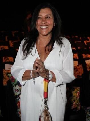 Regina Casé no encerramento do Fashion Business, no Jockey Club