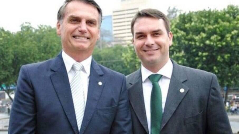 Flavio e Jair Bolsonaro