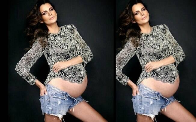 Fernanda Motta, prestes a dar à luz Chloe