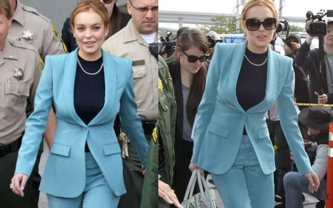 Lindsay Lohan no Tribunal de Los Angeles nesta quinta-feira (29)