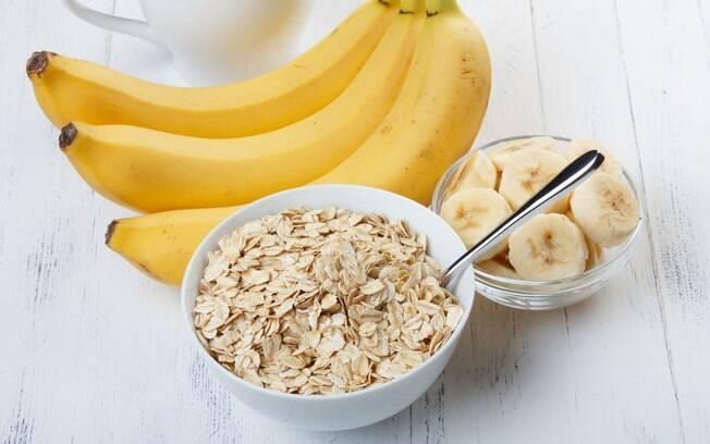 Banana e aveia estão na lista de alimentos para aumentar a imunidade