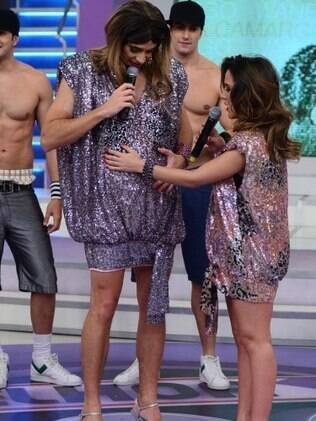 Rodrigo Faro e Wanessa no palco de