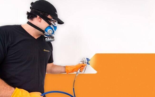 Pintura a Jato usa tecnologia capaz de pintar paredes em minutos