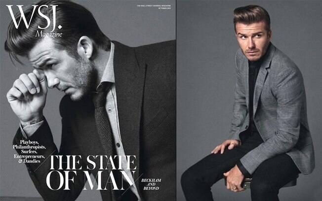 "David Beckham posou elegante para a WSJ Magazine"""