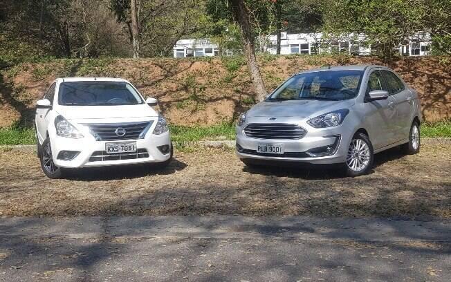 Ford Ka Sedan e Nissan Versa mais bem equipados vêm com rodas exclusivas, detalhes cromados, entre outros detalhes