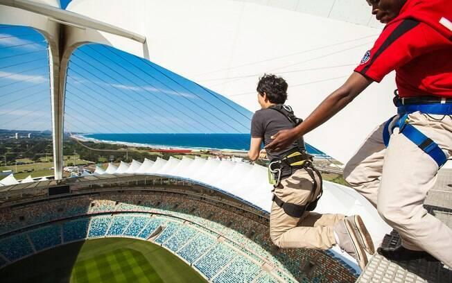 Estádio Moses Mabhida tem o maior balanço de corda do mundo