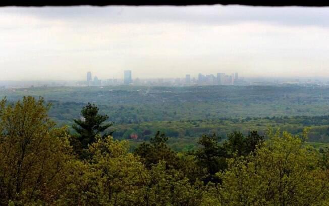 A Reserva de Blue Hills, nas proximidades de Boston, onde o OVNI foi avistado
