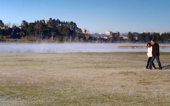 Paraná registrou temperaturas abaixo de 0 no começo deste fim de semana