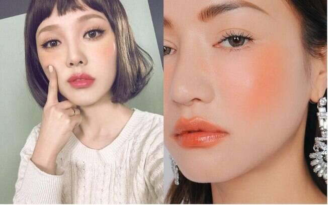 Dicas de beleza: as mulheres do Japão estão apostando nas tonalidades quentes, e o blush laranja se tornou essencial