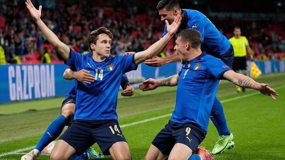 Federico Chiesa em atuação pela Seleção da Itália