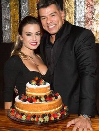 Mauricio Mattar e a namorada, Bianca