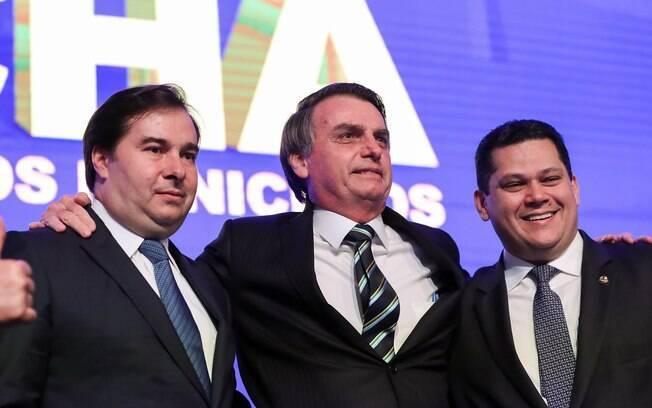 Maia, Bolsonaro e Alcolumbre