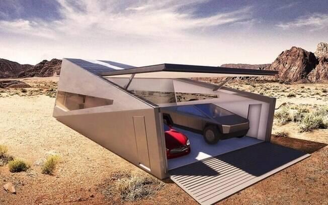 A garagem da Cybertruck seria tão disruptiva quanto a picape elétrica da Tesla