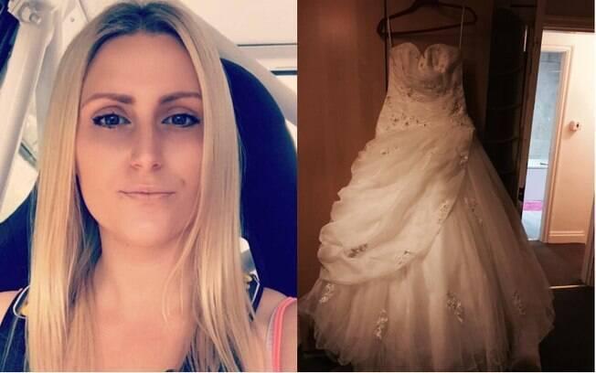 A mulher decidiu vender o vestido de casamento para não lembrar o que considera o maior erro da sua vida