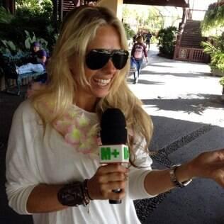 A apresentadora gravou durante suas férias nos Estados Unidos